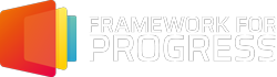 Framework for Progress - White Letter Logo
